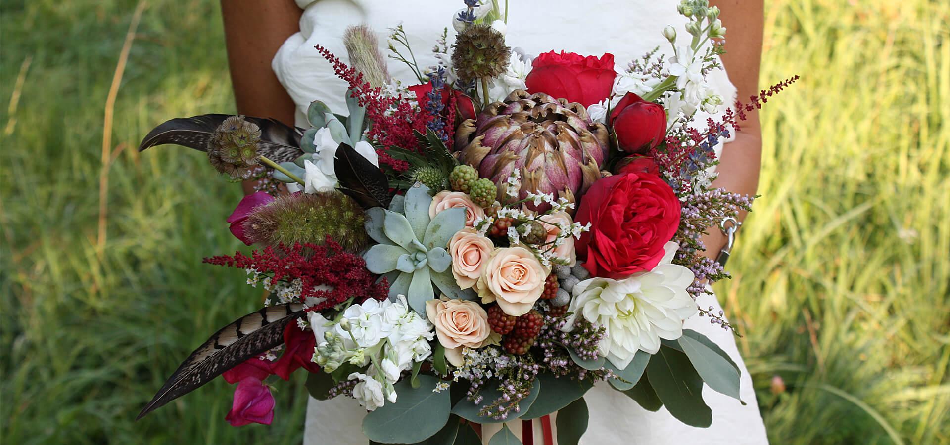 Артишок - тренд года в букете невесты и не только